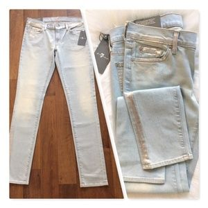 NWT 💕7 For All Mankind Skinny Women's Jeans Sz 29